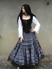 Gothic Wave super weit Tüll Rock Petticoat Black Magic schwarz weiss 36 38 40 42