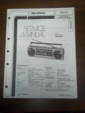 Quasar Service Manual for GX3625YQ Radio Cassette Recorder/Boombox~Original