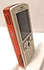 Sony Ericsson Vtg Walkman Camera Phone W800i Orange White Parts or Museum Only
