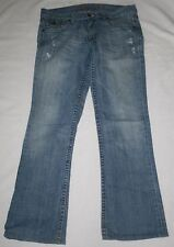 Women's RARE Abercrombie & Fitch Ezra Fitch Flare Vintage Blue Jeans Size 28