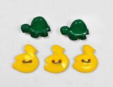10 X Lindo Bebé Blanco Pato Novedad botones de vástago de plástico