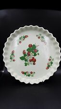 Portmeirion England Large Strawberries Pattern Quiche Baking Serving Dish