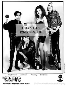 The Cramps official 8x10 inch b&w band promo/publicity/press photo 1994 NM