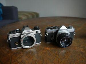 Olympus OM-4TI & OM2 50mm F1.8 lens 35mm film cameras