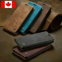 For Google Pixel 3 / 3xl Genunine Retro Leather Wallet Stand Flip Case Cover