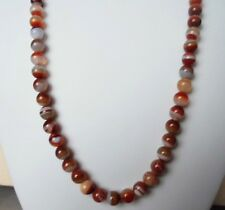 """Edelsteinkette Rot Achat Collier 67cm Halskette 7 - 8 mm Perlen  """"True Gems"""""""