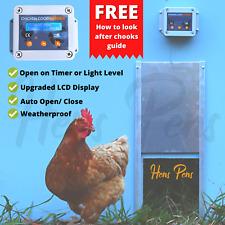Hens Pens Automatic Chicken Coop Door Opener Controller LCD Timer Light Sensor
