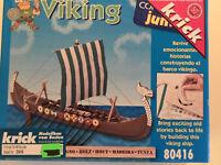 Krick 23416, Holz Baukasten Wikingerschiff Viking, OVP, Neu