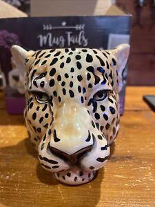 Leopard Head Mug, Novelty Gift