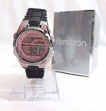 Armitron sport women's pink and black chronograph digital watch 45/6984PNK