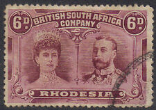 Rhodesia 1910 6d Red-brown & mauve double head sg 144 Used