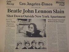 VINTAGE NEWSPAPER HEADLINE~MURDER BEATLES JOHN LENNON DEATH DIES GUN SHOT KILLED