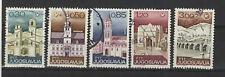 Yougoslavie  1967 année du tourisme 5 timbres oblitérés /T2148
