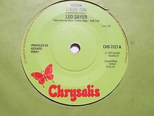 LEO SAYER, WHEN I NEED YOU / I THINK WE FELL IN LOVE TOO FAST. 1976 CHRYSALIS 45