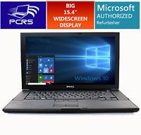 "DELL LATiTUDE LAPTOP 15.4"" HD Widescreen Computer Windows 10 Intel Core Duo 2GHz"
