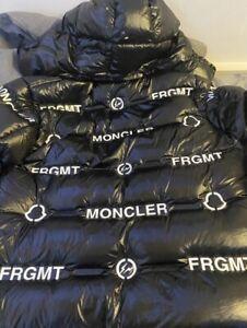 Moncler Fragment X Genius Coat Size 3 (Large) Black and White