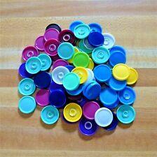 """100+ Plastic Bottle Caps Used 0.75"""" Diameter Round Art Craft Sculpting Project"""