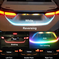 47 RGB LED Strip Car Trunk Rear Tail Brake Turn Signa Light l Flow 12V Universal