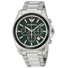 Emporio Armani Classic Sigma Chronograph Dark Green Dial Mens Watch AR6090