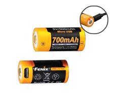 Fenix ARB-L16-700U USB Rechargeable 700mAh High-Capacity 16340 Batteries (TWO)