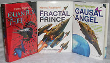 Quantum Thief/Fractal Prince/Causal Angel by Hannu Rajaniemi, Signed HC 1st/1st