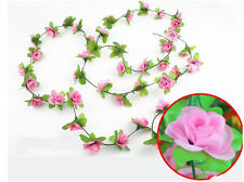 7.54ft String Fake Artificial Flowers Vine Ivy Leaf Garland Floral Home Graden