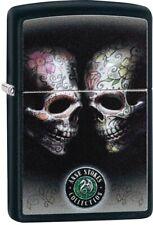 ZIPPO Anne Stokes Double Skull Black Matte Color Image 29754 **NEW** L@@K!