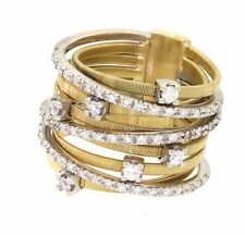 Marco Bicego heavy 18k gold 0.56ct VS1/G diamond multi band style ring size 7