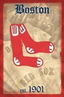 BOSTON RED SOX ~ RETRO LOGO 22x34 POSTER MLB Major League Baseball
