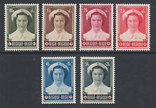 Belgium Sc B532-B537 MNH. 1953 Belgian Red Cross, complete set