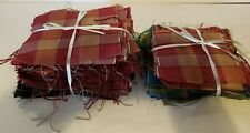 200 Vintage Quilt Blocks Fabric Squares Craft Sewing Lot; Pink Blue Green Black