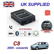 For Citroen C8 Music Streaming Bluetooth Telephone Charger SD AUX CD Module RD4