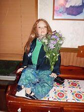 "Christine Orange 38"" tall Harriet porcelain doll w/chair, coa/400/1000 elite HSN"