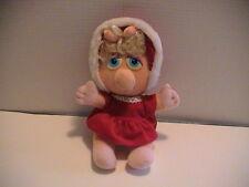 1987 Miss Baby Piggy Muppets Sesame Street Stuffed Toy Animal Cute Nice Shape!