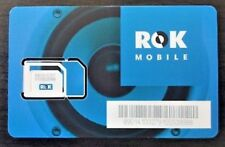 LOT of 50 ROK MOBILE SIM's on AT&T network Choose your own 4G Plan at rokmobile