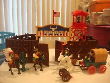 LIL PLAYMATES FRONTIER FORT CAVALRY AND INDIANS PLAYSET Plus cowboys&Indians