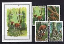 Zaire - WWF - Wild Animals  on postage stamps - MNH**  AM1
