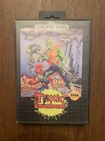 Toxic Crusaders Sega Genesis Game And Box Only Authentic Tested And WORKING!