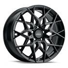 MotorCity Customs Masonic 18x8 +38 Gloss Black 5x110 5x115 (QTY 4)