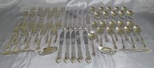 Wm Rogers IS USA Moonlight Silverplate Flatware 54pc Set