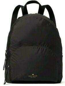 Kate Spade Arya Black Packable Nylon Backpack WKRU6975 NWT $279 Retail FS