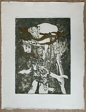 Lithuania Grazina Didelyte  Etching on paper 1980's  Limited edition 10/30