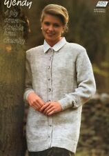 "Wendy 4 Ply DK Aran Chunky Knitting Pattern ladies Cardigan Size 32/46"" Chest"