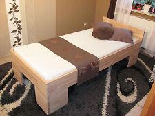Vollholzbett Massivholzbett 100x200 Bettgestell Einzelbett Senioren Bett Fuß II
