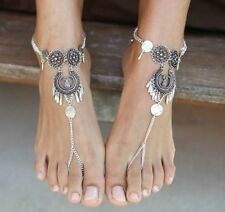 Retro Women Silver Toe Ring Ankle Chain Barefoot Sandal Beach Foot Bracelet