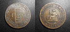 Indochine Française - 1 centième 1892A - JL#43