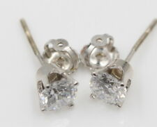 14K WHITE GOLD 1.00 CTW DIAMOND STUD EARRINGS W/ SCREW POSTS AND BACKS (337B)