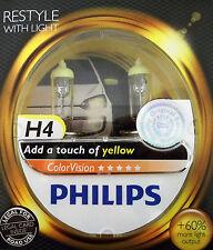 Philips 2x H4 gelb ColorVision Autolampe Scheinwerfer Birne Front +60% Licht