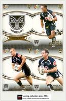 2007 Select NRL Invincible Trading Cards Base Team Set Warriors (12)