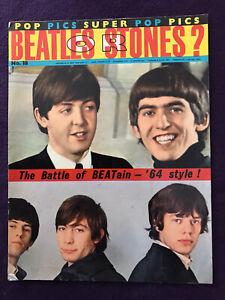 "1964 Pop Music Magazine POP PICS no.18 - ""BEATLES or STONES?"" special"